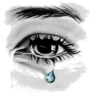 un homme pleure